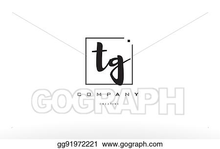 Vector Art Tg T G Hand Writing Letter Company Logo Icon
