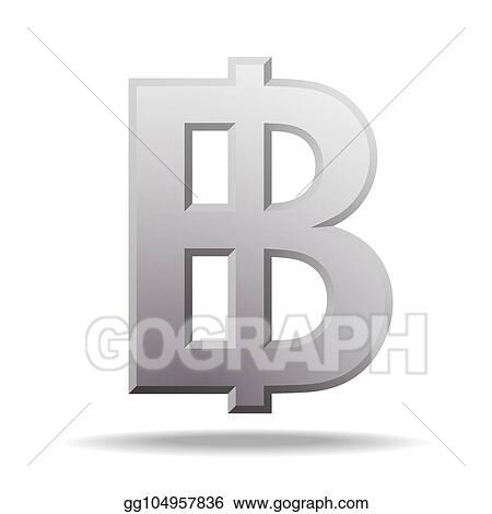 Vector Clipart Thai Baht Currency Symbol Vector Illustration