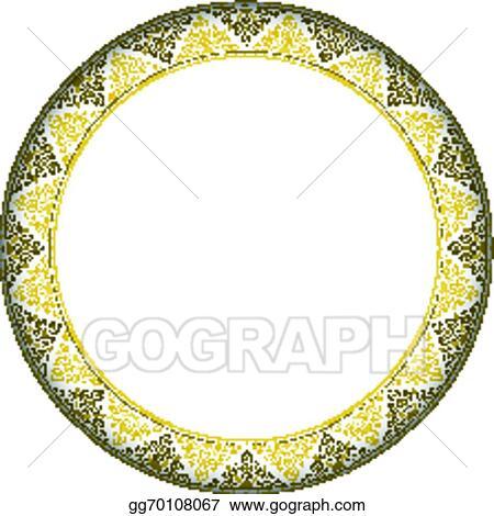 EPS Vector - Thai style complex circle frame. Stock Clipart ...