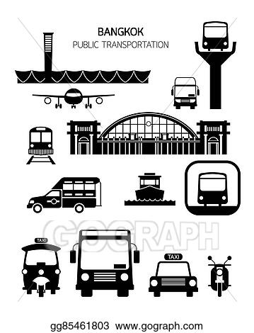 Vector Art Thailand Transportation Objects Clipart Drawing