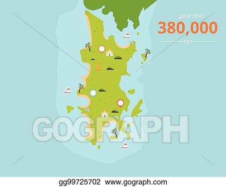 Vector Stock - Thailand tropical islands with culture icons and text ...