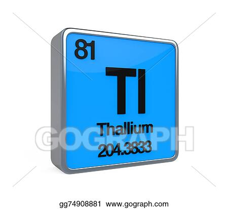 Drawing Thallium Element Periodic Table Clipart Drawing