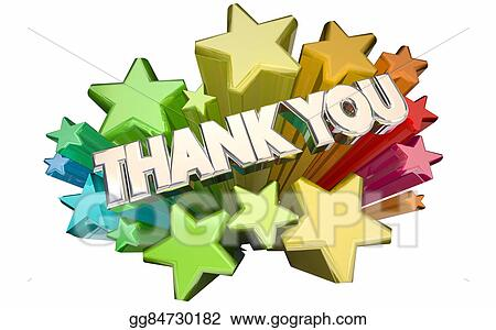 stock illustration thank you appreciation message stars announcement clipart pictures announcement clipart black and white