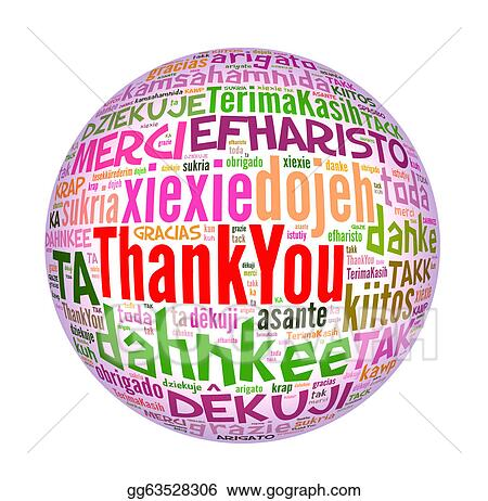 stock illustration thank you globe concept word in many languages