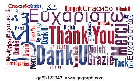 stock illustration thank you phrase in different languages rh gograph com thank you in many languages free clipart thank you in different languages clipart