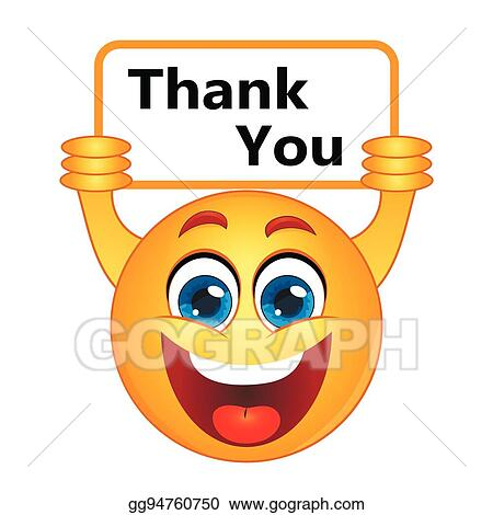 Thank you smiley. Vector art thanks expressing