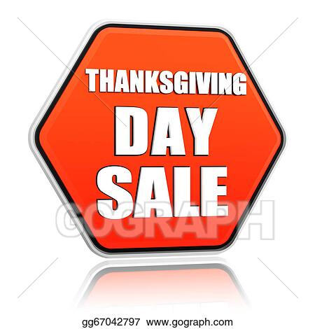 Stock Photo Thanksgiving Day Sale Orange Hexagon Banner Stock Photos Gg67042797 Gograph