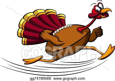 Vector Clipart Thanksgiving Turkey Football Vector Illustration