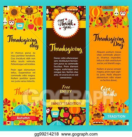 vector art thanksgiving vertical flyers eps clipart gg99214218