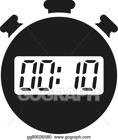 vector art the 10 seconds minutes stopwatch icon clock and watch