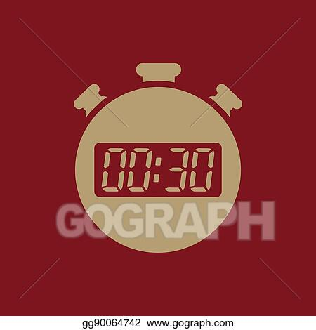 eps illustration the 30 seconds minutes stopwatch icon clock and