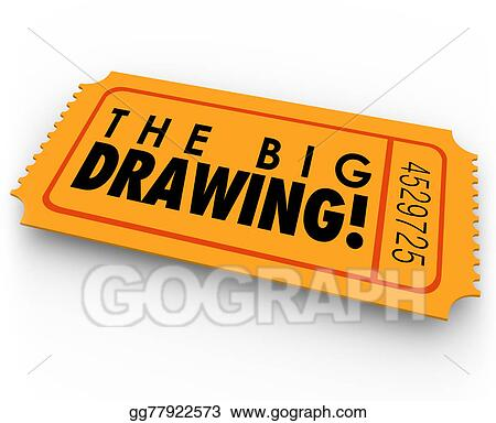drawing the big drawing raffle ticket contest entry win big luck