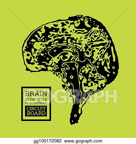 Eps Vector The Brain Is In The Form Of A Topographic Map Or An
