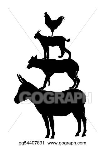 vector stock the bremen town musicians silhouette stock clip