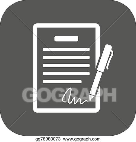 Vector Art The Contract Icon Agreement And Signature Pact