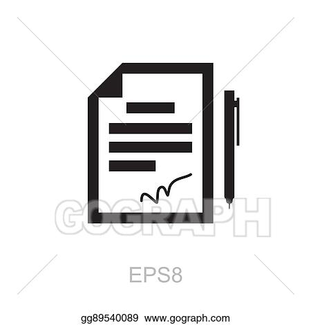 Vector Clipart The Contract Icon Agreement And Signature Pact