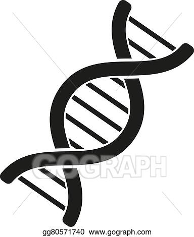 eps vector the dna icon genetics and medicine molecule rh gograph com dna clipart graphics dna clipart outline