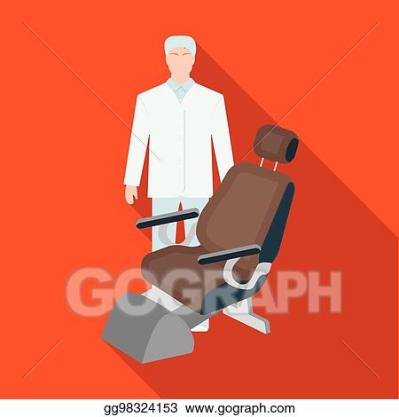 Clip Art Vector - The doctor is a dentist in a white dressing gown ...