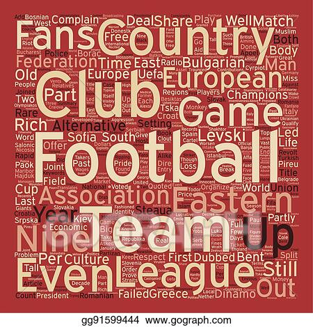 Vector Art - The eastern league text background wordcloud