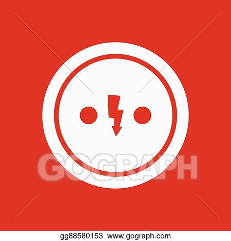 Eps Vector The Electrical Outlet Icon Socket Symbol Flat Stock