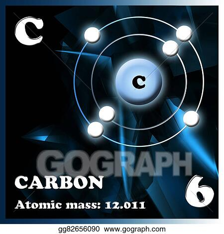 Drawing The Element Carbon Clipart Drawing Gg82656090 Gograph