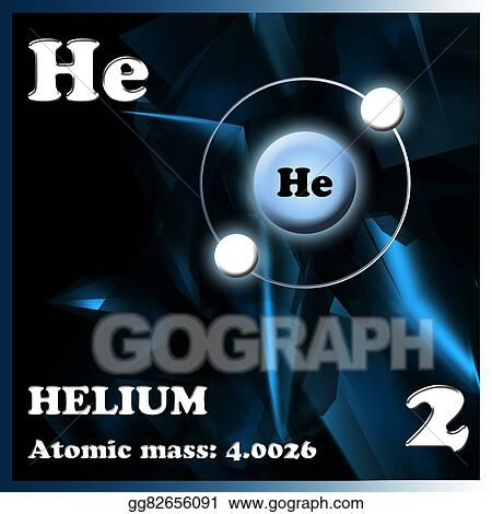 stock illustration the element helium stock art illustrations