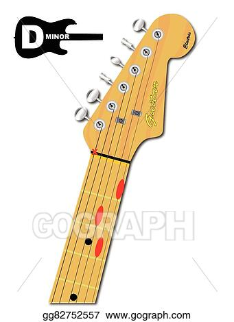 Clip Art Vector - The guitar chord of d minor. Stock EPS gg82752557 ...