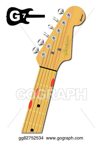 Vector Illustration - The guitar chord of g seven. EPS Clipart ...