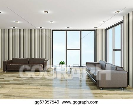 Stock Illustration - The hall with sofas. Stock Art ...