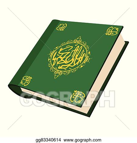 Vector Clipart The Holy Quran Cartoon Icon Vector Illustration
