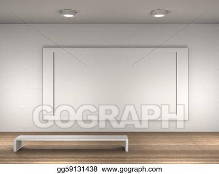 Clip art the interior of a empty museum stock illustration clip art museum room with frame for text or picture stock illustration gg59131438 sciox Images