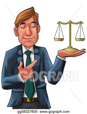 stock illustration the lawyer clipart drawing gg58327605 gograph rh gograph com lawyer clipart black and white law clip art