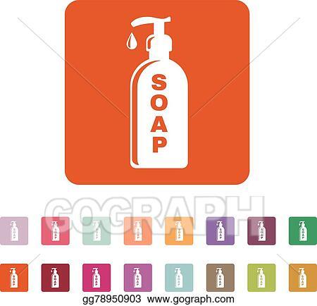 Vector Art The Liquid Soap Icon Hand Wash Symbol Flat Clipart