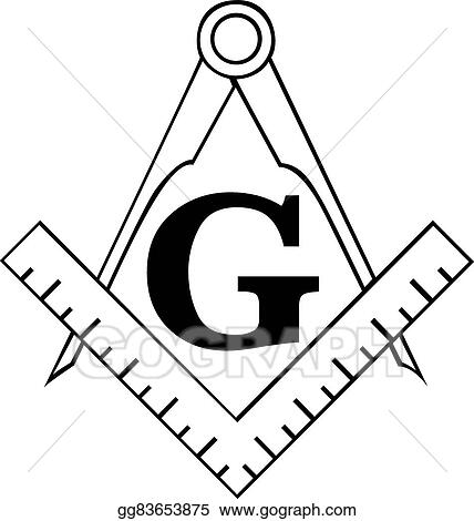 vector illustration the masonic square and compass symbol rh gograph com masonic clipart images free masonic clipart black and white