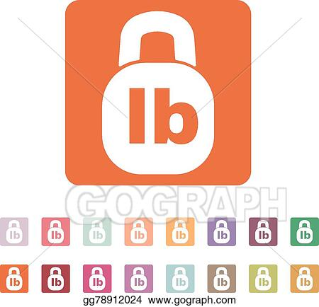 Vector Art The Pound Icon Lb And Weight Symbol Flat Clipart
