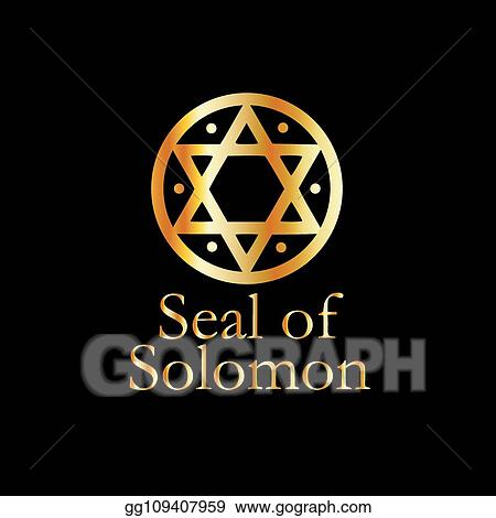 Vector Illustration - The seal of solomon- a magical symbol or