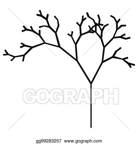 Vector Stock The Silhouette Of A Tree With A Trunk And Branches