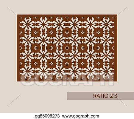 Vector Clipart - The template pattern for laser cutting decorative ...