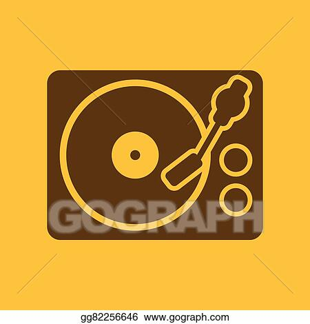 Vector Illustration - The turntable icon  dj and melody