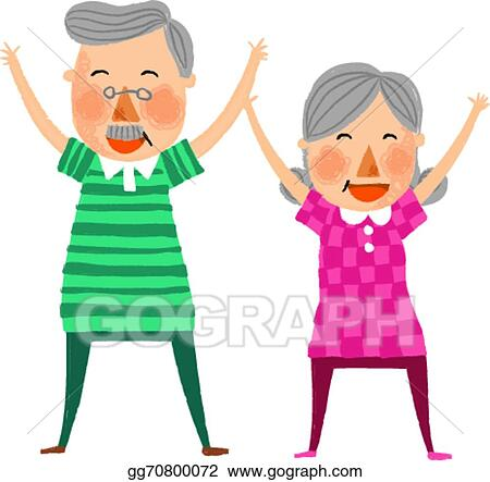 eps vector the view of old couple stock clipart illustration rh gograph com old married couple clipart old married couple clipart