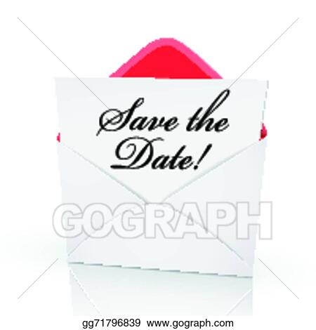 the words save the date on a card