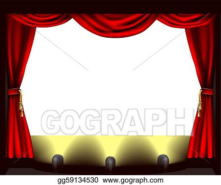 vector art theatre stage clipart drawing gg59134530 gograph rh gograph com stage clips on a light microscope stage clip - colchester