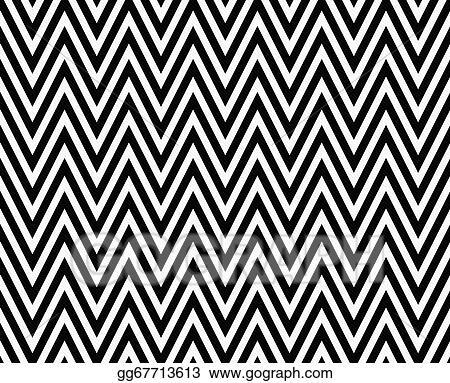 Stock Illustration Thin Black And White Horizontal Chevron