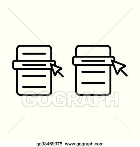 Vector Stock Thin Line Menu Scrolling Icon Stock Clip Art