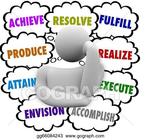 stock illustration thinker thought clouds achieve accomplish rh gograph com thinker clipart thinker clip art free