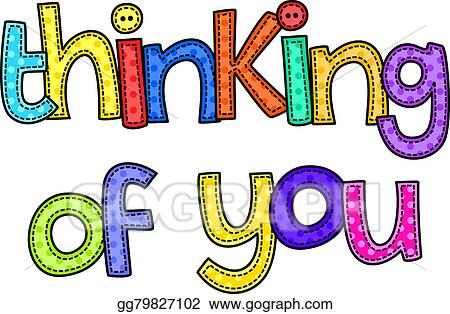 drawing thinking of you stitch text clipart drawing gg79827102 rh gograph com thinking of you today clipart thinking of you clipart images