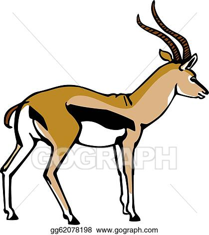 vector stock thompson s gazelle stock clip art gg62078198 gograph rh gograph com Zebra Clip Art gazelle silhouette clip art