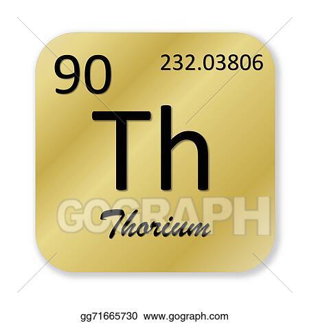 Clip Art Thorium Element Stock Illustration Gg71665730 Gograph