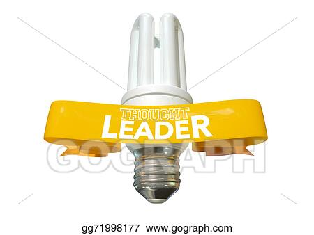 Drawing Thought Leader Light Bulb And Banner Clipart Drawing Gg71998177 Gograph