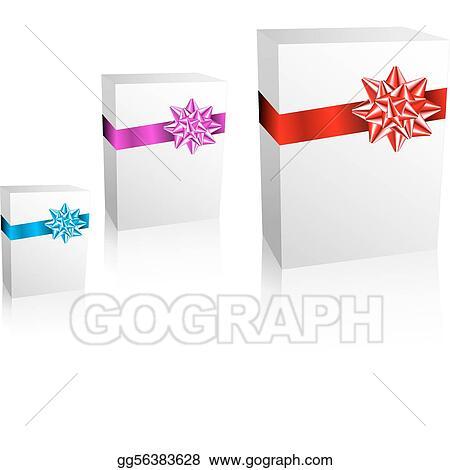 Clip Art Vector Thre Christmas Valentine Birthday Gift Boxes